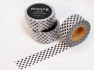 WASHI LEMOVACIA PÁSKA - Polka dots black